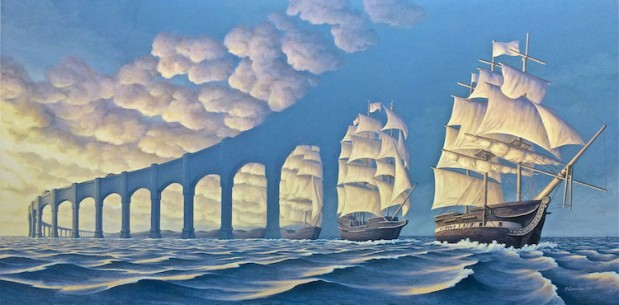 """Rob Gonsalves' Surreal Optical Illusions are a """"Celebration of Imagination"""""""