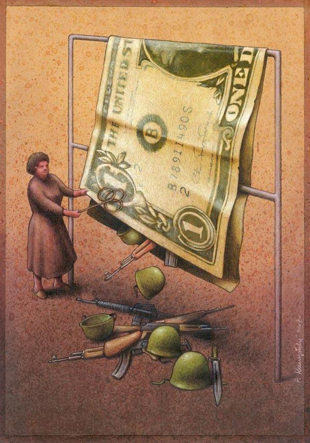 Satirical Illustrations by PawelKuczynski