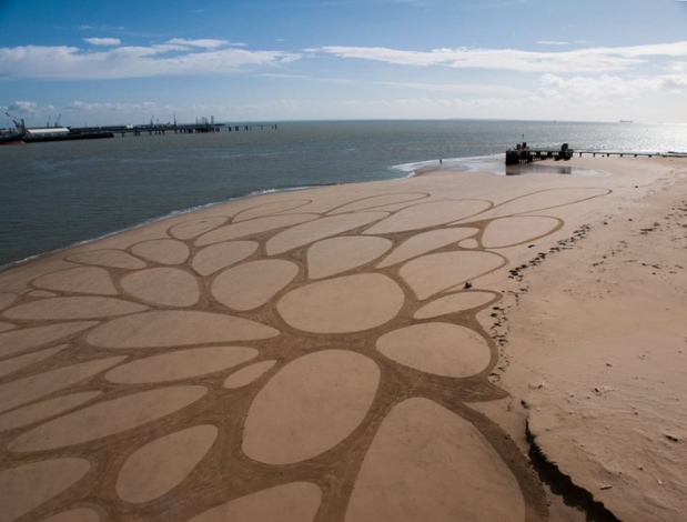 Brilliant & Colossal Sand Drawings By Sam Dougados