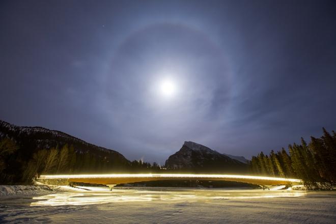 Banff's Pedestrian Bridge. Photo by Paul Zizka Photography.