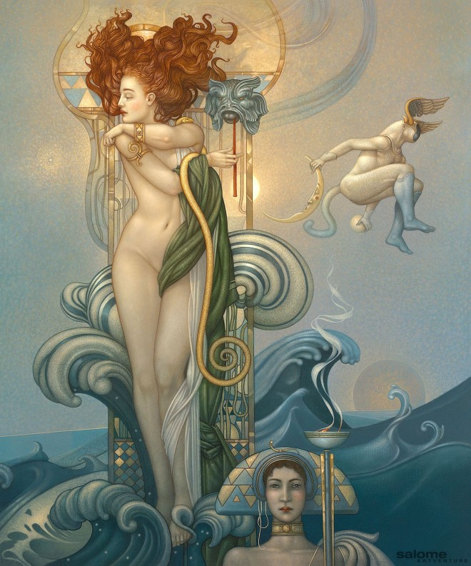 Venus Giclee on Canvas by artist Michael Parkes